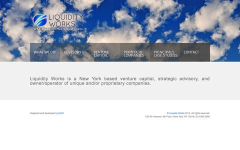 Screenshot of Home Page liquidityworks.com - Liquidity Works - captured Oct. 2, 2014