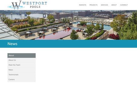 Screenshot of Press Page westportpools.com captured Nov. 18, 2018