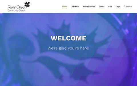 Screenshot of Home Page riveroaks.org - Welcome - River Oaks - captured Dec. 4, 2018