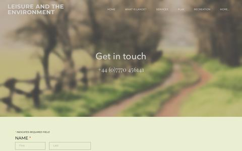 Screenshot of Contact Page lande.co.uk - Contact - LEISURE AND THE ENVIRONMENT - captured Sept. 24, 2018