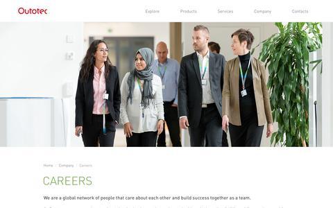 Screenshot of Jobs Page outotec.com - Careers - Outotec - captured Feb. 24, 2017