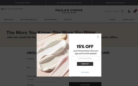 Screenshot of Signup Page paulaschoice.com - Paula's Choice - captured Oct. 6, 2019