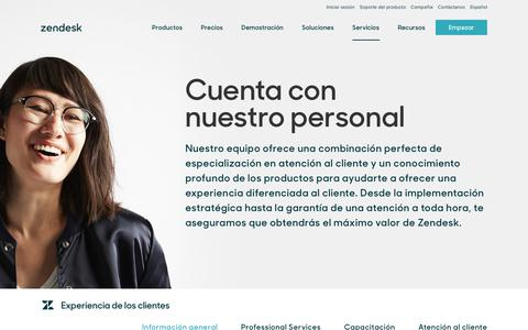 Screenshot of Support Page zendesk.com.mx - Experiencia del cliente | Zendesk - captured Aug. 5, 2018