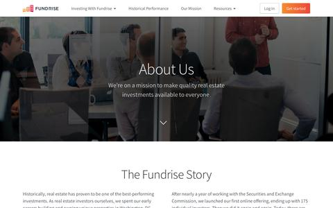 Screenshot of About Page fundrise.com - About Us | Fundrise - captured Dec. 15, 2017