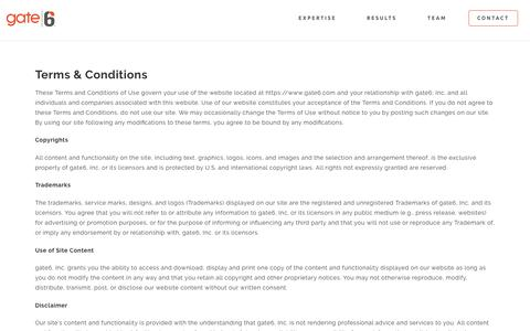 Terms & Conditions - Gate6
