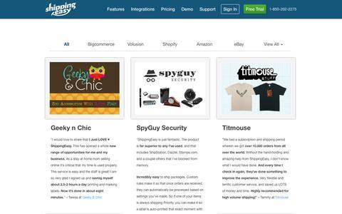 Screenshot of Testimonials Page shippingeasy.com - Testimonials Archive - ShippingEasy - captured Oct. 28, 2014