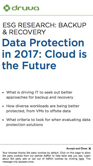 Data Protection in 2017: Cloud is the Future