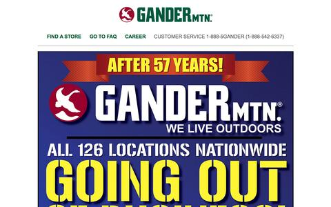 Screenshot of Home Page gandermountain.com - Gander Mtn – We Live Outdoors - captured May 13, 2017