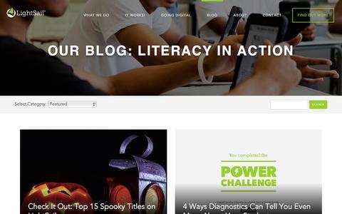Screenshot of Blog lightsailed.com - Blog - LightSail - captured Nov. 8, 2016