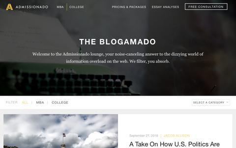 Screenshot of Blog admissionado.com - Blog — Admissionado - captured Sept. 29, 2018
