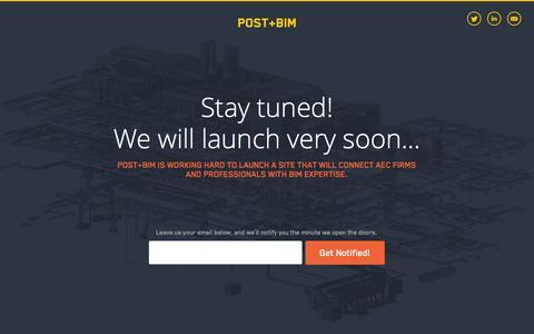 Screenshot of Home Page postandbim.com - BIM - BIM Jobs and AEC Professional Network | PostandBIM.com - captured Oct. 8, 2014