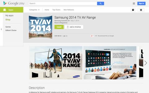 Screenshot of Android App Page google.com - Samsung 2014 TV AV Range - Android Apps on Google Play - captured Oct. 25, 2014