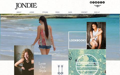Screenshot of Login Page jondie.com - JONDIE - Clothing and Accessories Boutique in Franklin, TN - captured July 16, 2015