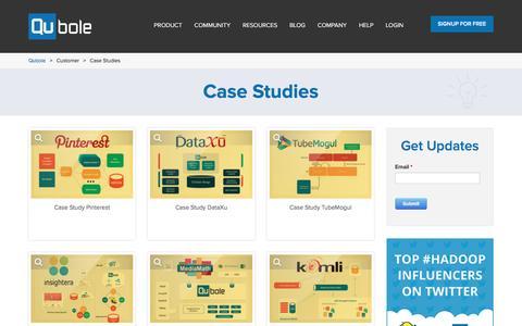 Screenshot of Case Studies Page qubole.com - Case Studies | Qubole - captured July 3, 2016