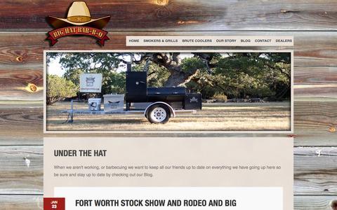 Screenshot of Blog bighatbbq.com - Big Hat Bar-B-Q - Under the Hat - captured Oct. 5, 2014