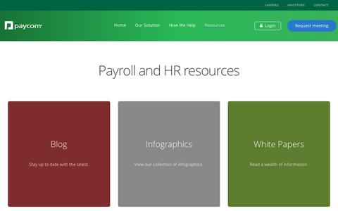 Payroll and HR Resources | Paycom