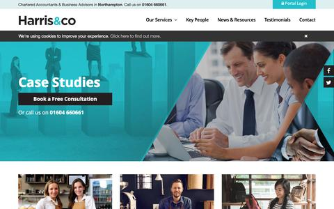 Screenshot of Case Studies Page harrisandco.biz - Case Studies   Harris & Co Accountancy - captured Sept. 27, 2018