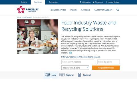 Restaurant Waste Management | Republic Services