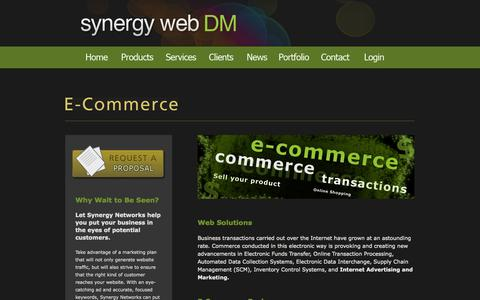 Screenshot of Products Page snwebdm.com - E-Commerce | Synergy Web DM - captured Nov. 5, 2014