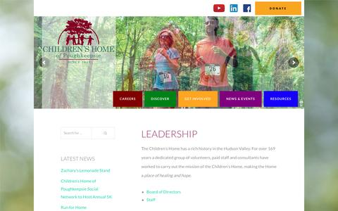 Screenshot of Team Page childrenshome.us - Leadership – CHP - captured Nov. 5, 2016
