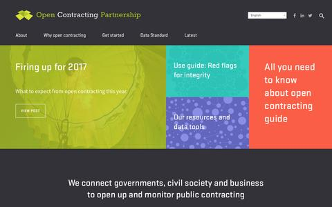 Screenshot of Home Page open-contracting.org - Open Contracting Partnership Open Contracting Partnership - captured Jan. 30, 2017