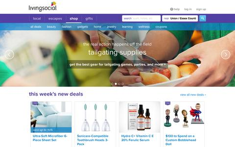 Screenshot of Products Page livingsocial.com - Online Shopping Deals & Discounted Products -- LivingSocial Shop - captured Sept. 30, 2015