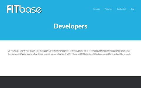 Screenshot of Developers Page thefitbase.com - Developers | FITbase - captured Nov. 3, 2014
