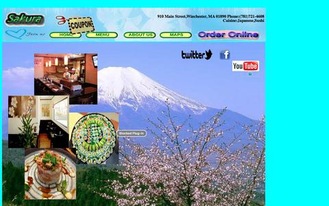 Screenshot of Home Page eatsakura.com - Sakura Winchester Restaurant - captured July 8, 2018