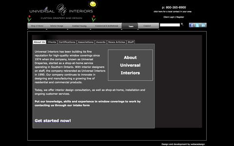 Screenshot of Team Page universalinteriors.ca - Team | universalinteriors - captured Oct. 26, 2014