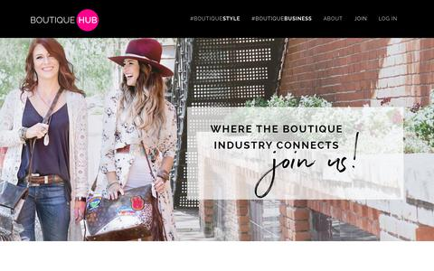 Screenshot of Signup Page theboutiquehub.com - The Boutique Hub |   Join the Hub - captured Sept. 20, 2018