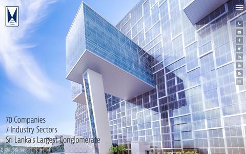 Screenshot of Home Page keells.com - Investment in Sri Lanka | John Keells Holdings PLC, Sri Lanka | JKH | Careers - captured Oct. 14, 2018