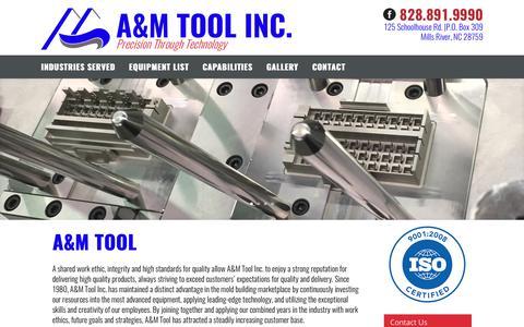 Screenshot of Home Page amtoolusa.com - A&M Tool Inc | Precision Through Technology - captured Aug. 28, 2017