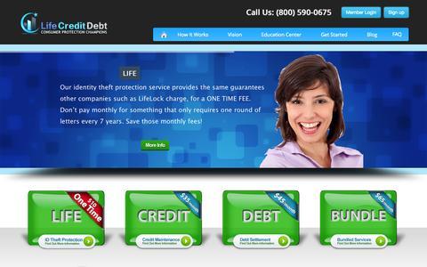 Screenshot of Home Page lifecreditdebt.com - Life Credit Debt | Consumer Protection Champions - captured Oct. 2, 2014