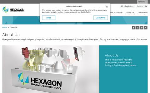 Screenshot of About Page hexagonmi.com - About Us | Hexagon Manufacturing Intelligence - captured Nov. 25, 2017