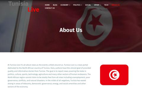 Screenshot of About Page tunisia-live.net - About Us – Tunisia Live - captured Nov. 7, 2018