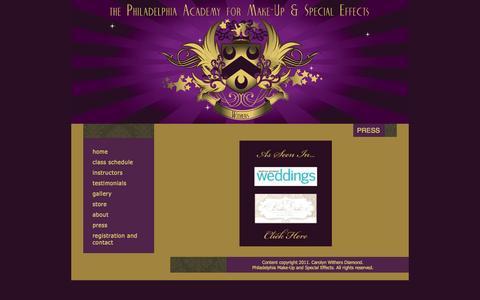 Screenshot of Press Page pamuse.com - Press - captured Oct. 6, 2014
