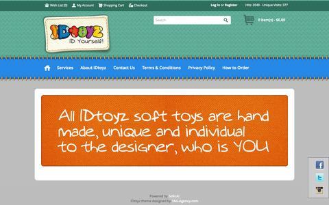 Screenshot of Home Page idtoyz.com - IDtoyz - captured Sept. 30, 2014