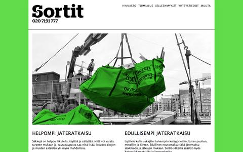 Screenshot of Home Page sortit.fi - Sortit Oy - captured Feb. 15, 2016