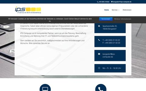 Screenshot of Home Page ips-computer.de - IPS Computer   IT-Service für Berlin und Brandenburg - captured June 10, 2018