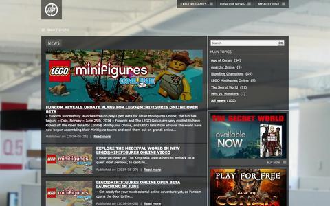 Screenshot of Press Page funcom.com - funcom.com | News - captured Sept. 19, 2014