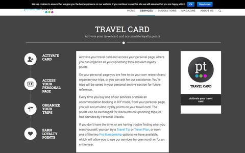 Screenshot of Services Page personal-travels.com - Personalized travel solutions, this is Personal Travels - captured July 12, 2016