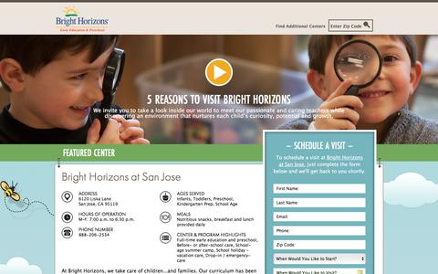 Screenshot of Landing Page brighthorizons.com - Bright Horizons® | Child Care, Back-Up Care, Early Education, and Work/Life Solutions - captured March 14, 2018