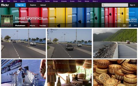 Screenshot of Flickr Page flickr.com - Flickr: investdominica's Photostream - captured Oct. 25, 2014