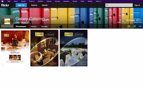 Screenshot of Flickr Page flickr.com - Flickr: Galaxy Catering's Photostream - captured Oct. 22, 2014