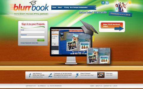 Screenshot of Home Page blurrbook.com - Blurrbook - captured Sept. 30, 2014