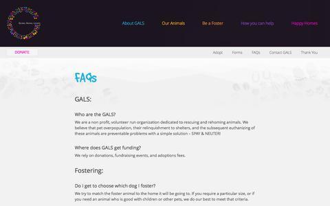 Screenshot of FAQ Page globalanimallovers.com - FAQs | Global Animal Lovers - captured Oct. 1, 2014