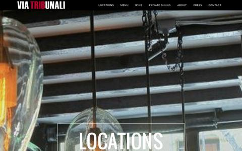 Screenshot of Locations Page viatribunali.com - Via Tribunali | Locations - captured Nov. 5, 2014