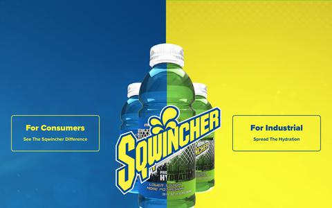 Screenshot of Home Page sqwincher.com - Sqwincher | Professional Grade Hydration - captured Nov. 2, 2017