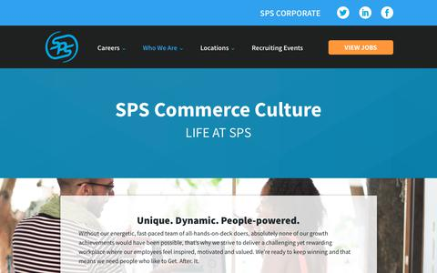 Screenshot of Jobs Page spscommerce.com - Our Culture - SPS Commerce Careers - captured Oct. 24, 2018