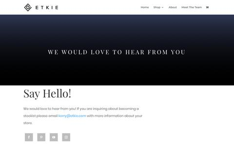 Screenshot of Contact Page etkie.com - Contact | ETKIE - captured July 21, 2018